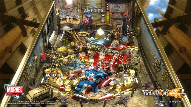 The Captain America Table for Marvel Pinball Is Marvel-Approved!