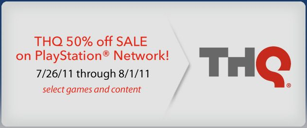PSN and THQ 50% Off Content Sale