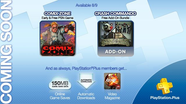 Coming to PlayStation Plus: Comix Zone Free and Early