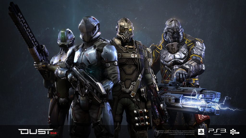 Dropsuits in DUST 514