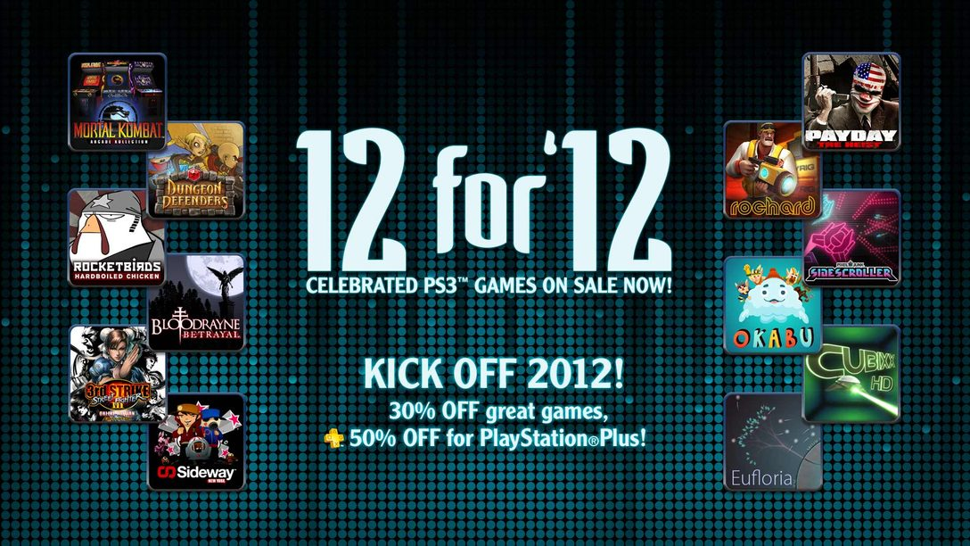 """Introducing PlayStation Network's """"12 for '12"""" PS3 Game Sale"""
