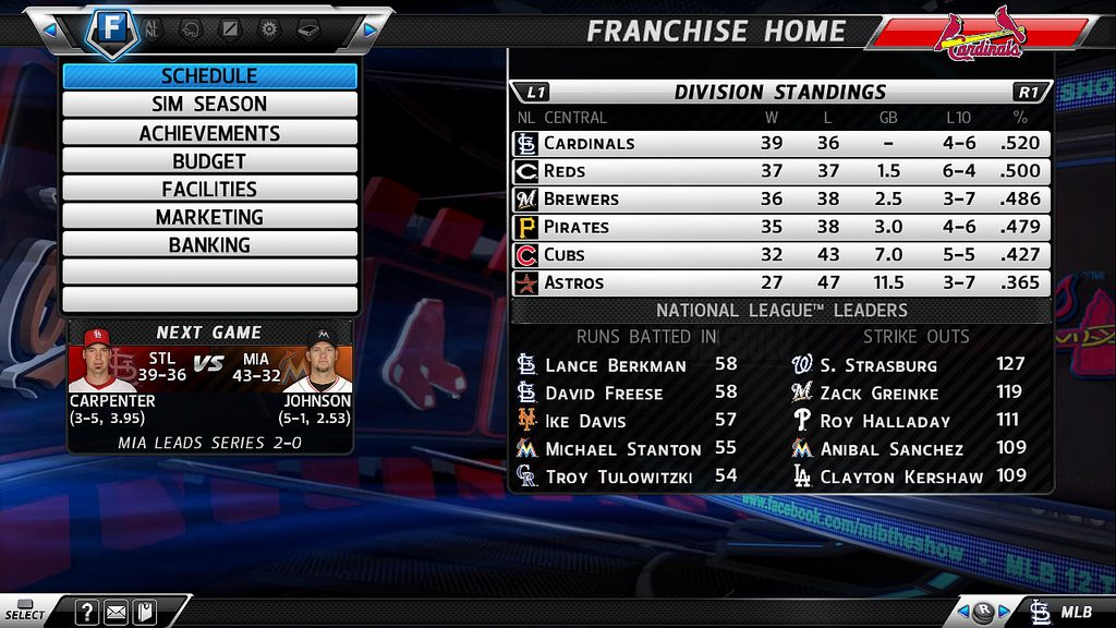 MLB 12 The Show Franchise Mode Improvements