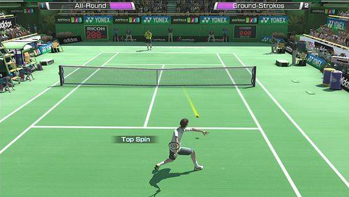 Touch Controls In Virtua Tennis 4: World Tour Edition