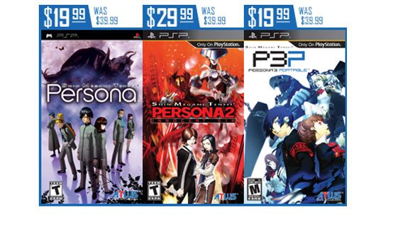 """Atlus """"ReVITAlized"""" PSP Price Drop Event is Live on PSN"""