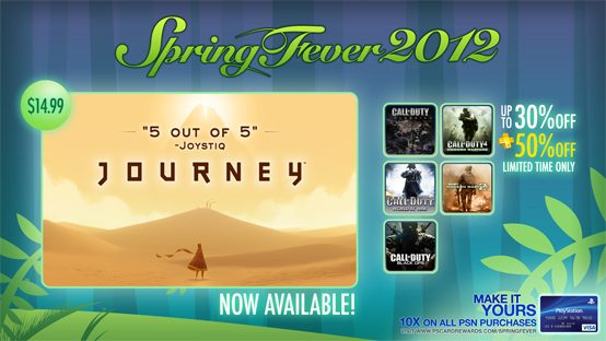 PSN Spring Fever 2012: New Games, Discounts, Call of Duty Sale This Week