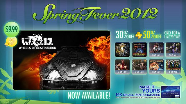 Spring Fever Expands Tomorrow: Wheels of Destruction, Mortal Kombat Discounts