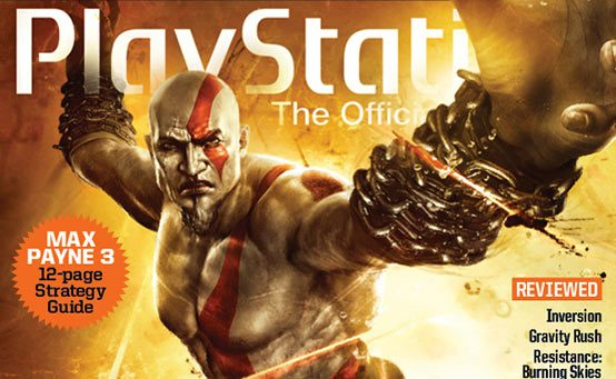 Kratos Conquers PlayStation: The Official Magazine's August Issue