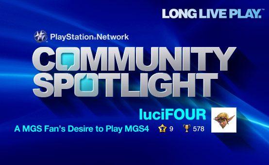 PSN Community Spotlight – A MGS Fan's Desire to Play MGS4