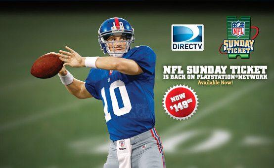 Halftime Update: DIRECTV NFL Sunday Ticket Now Just $149.95