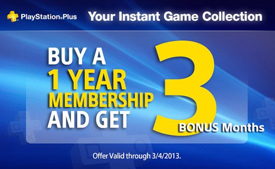 PlayStation Plus: Sign Up For a 1-Year Membership, Get 3 Months Free