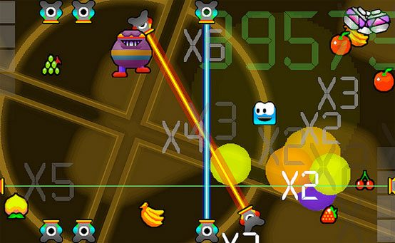 Avoid Droid on PS Vita: Fruit, Explosions and Multipliers