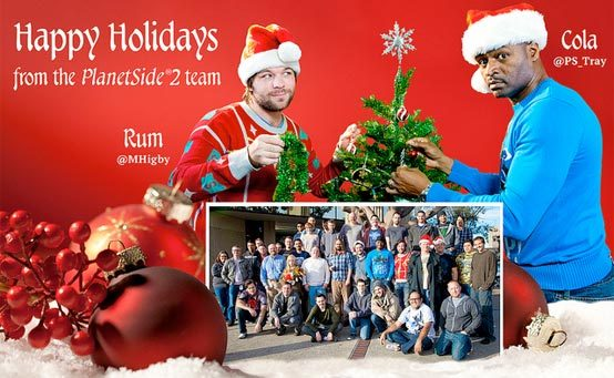 Happy Holidays from Rum, Cola, and the Entire PlanetSide 2 Team