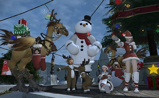 Save the Snowmen in Final Fantasy XIV's Holiday Celebration Out Today