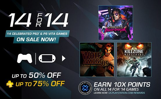 14 for '14 Sale Starts Tomorrow: Huge Discounts on PS3, Vita Games