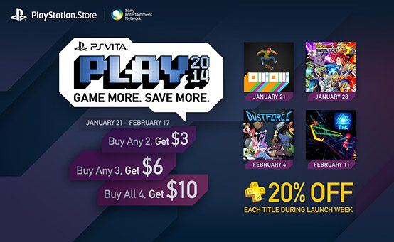 PS Vita PLAY: 4 New Vita Games, PS Plus discounts and more