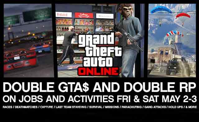 GTA Online: Get Double GTA$ & Double RP Today and Tomorrow