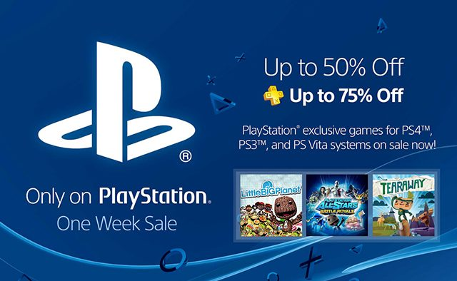 Only on PlayStation Sale Starts Tomorrow