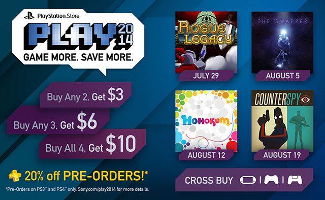 PS Store PLAY 2014: 4 New Games, Big Discounts