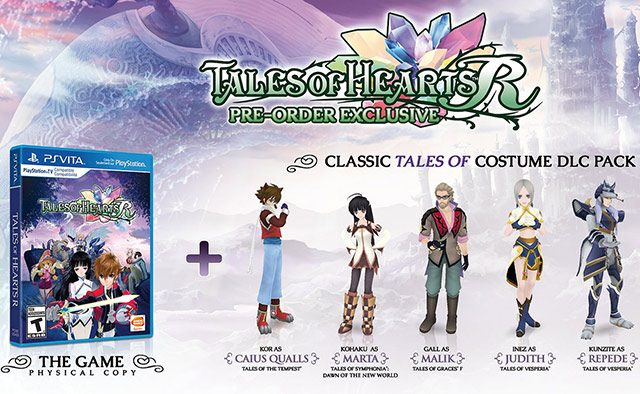 Tales of Hearts R Out 11/11 on PS Vita & PSTV, Pre-order Detailed