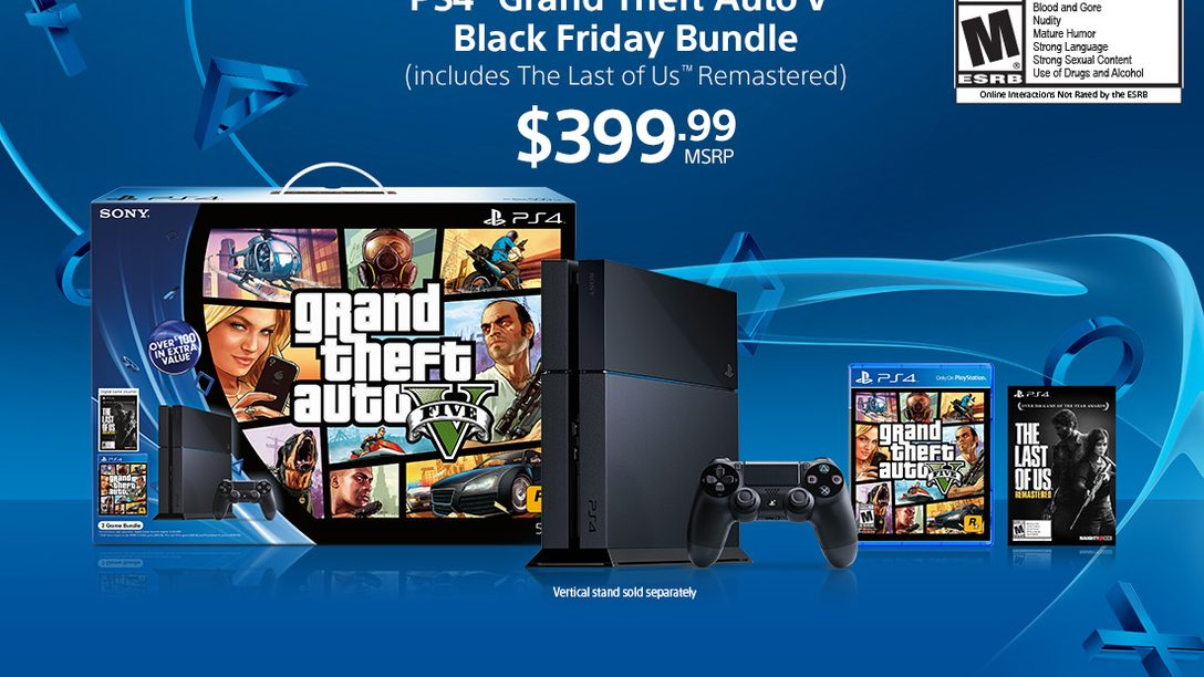 PS4 on Black Friday: GTA V Bundle and LEGO Batman 3 Bundle