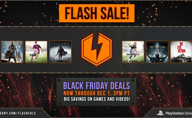 Black Friday Flash Sale: Up to 65% off Top PS4 & PS3 Games, Movies