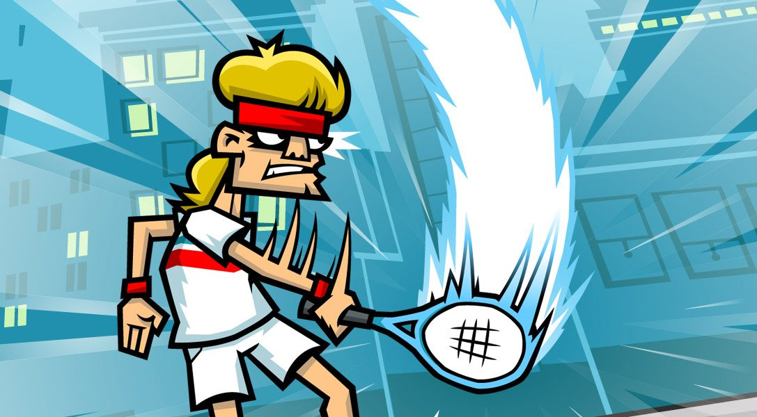 Serve up righteous justice in Tennis in the Face, out on PS4 today