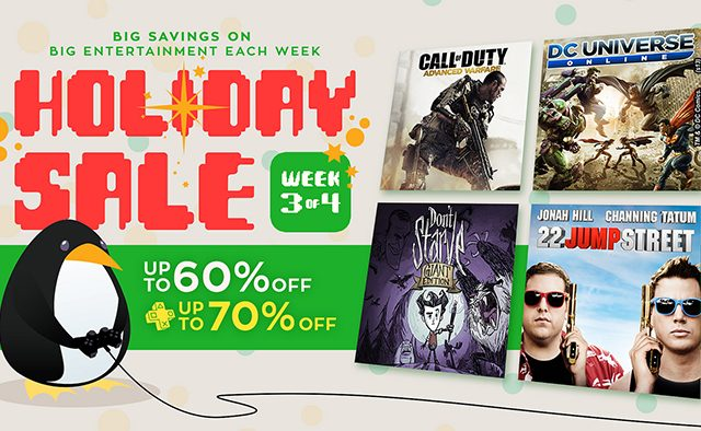 Holiday Sale Week 3: Games, Movies and TV Shows Discounted