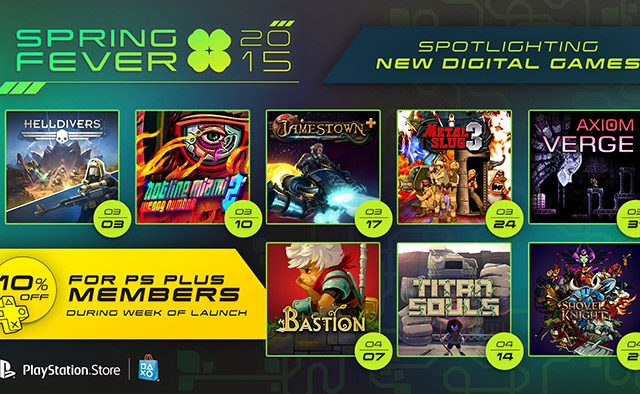 Spring Fever 2015: 8 Weeks, 8 New PS4 Games, PS Plus Discounts