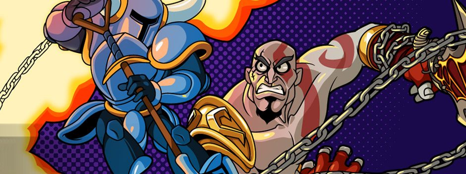 Your first look at Kratos doing battle in Shovel Knight!