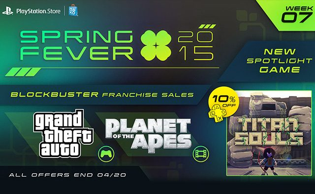 Spring Fever Week 7: Titan Souls Out Today, GTA Games & Planet of the Apes Movies on Sale