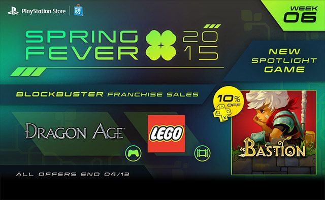 Spring Fever Week 6: Bastion out Today, Dragon Age Games & LEGO Movies on Sale