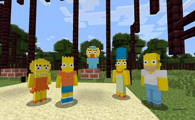 The Simpsons Come to Minecraft on PlayStation This Week