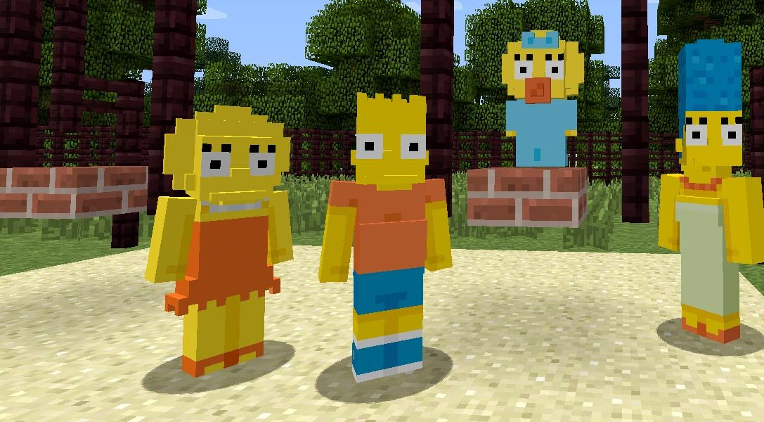 The Simpsons come to Minecraft this week