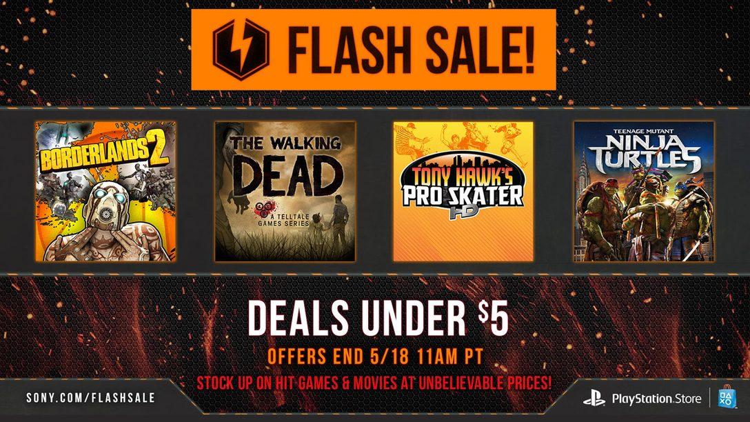 Flash Sale Now: Deals Under $5