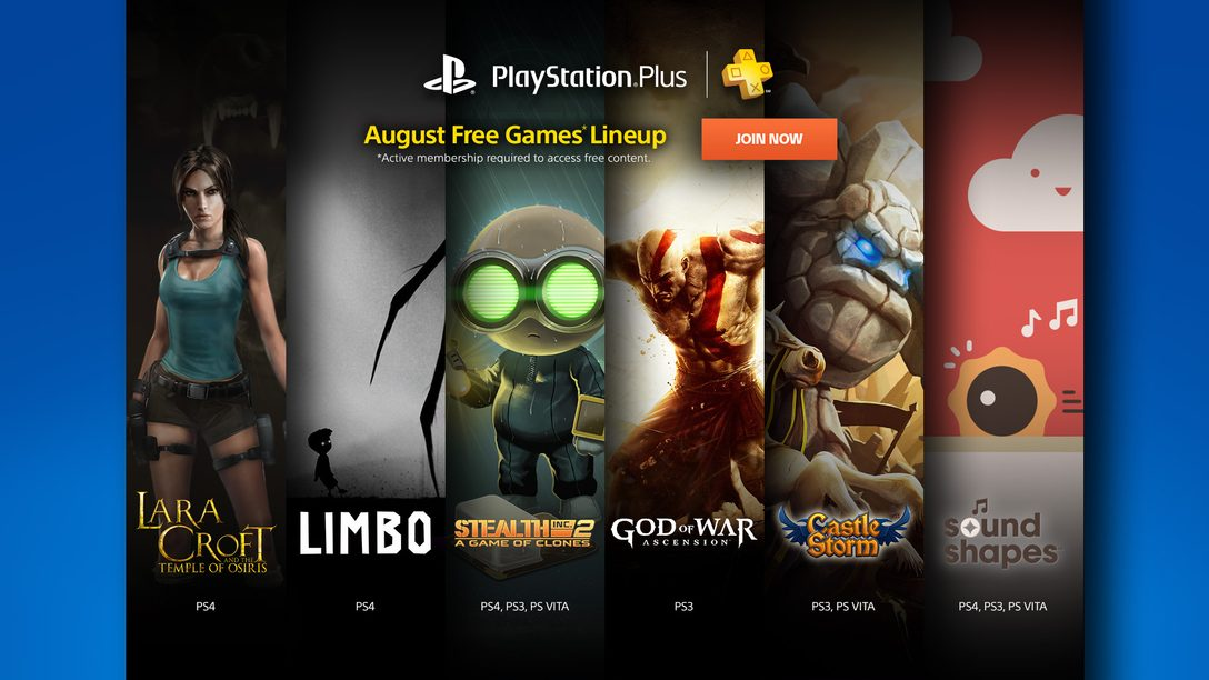 what games are free on ps4 august
