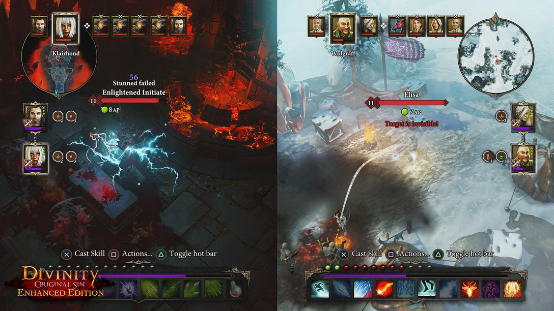 Divinity Original Sin Enhanced Edition: Couch Co-op RPG on PS4
