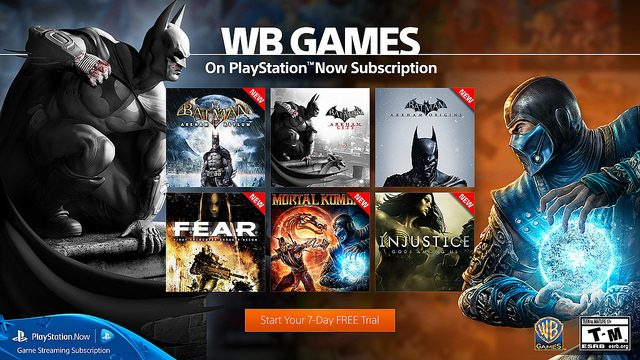 PS Now: 12-Month Subscription for $99.99, 9 New Games from WB