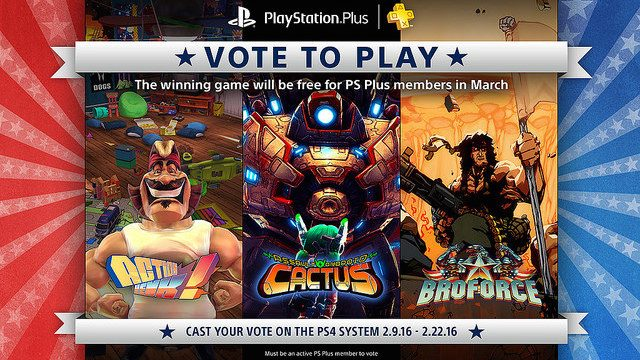 Vote to Play: Broforce is Your PS Plus Selection for March 2016