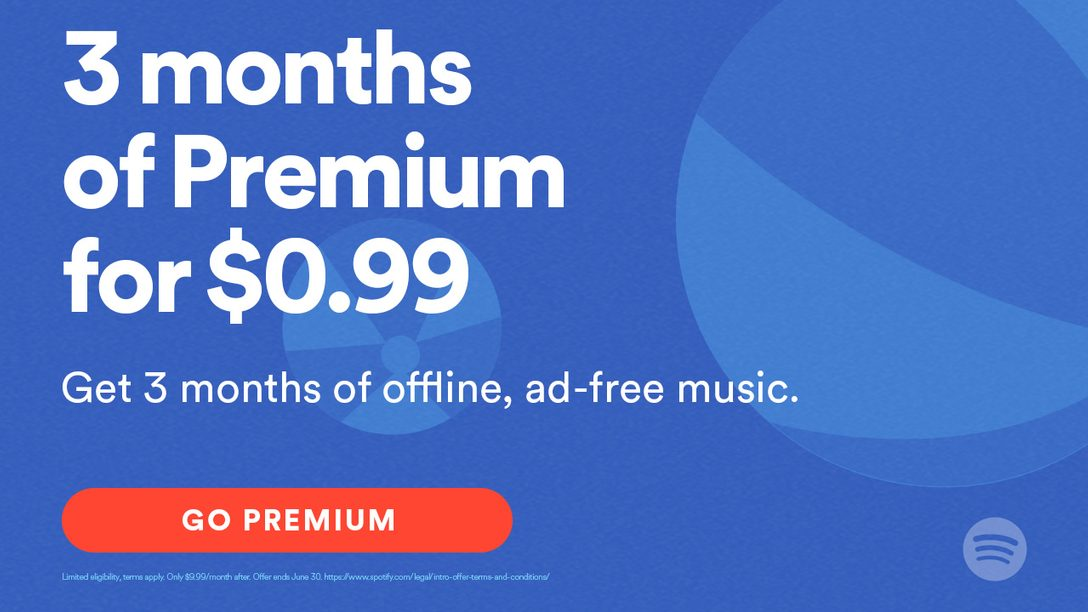 Spotify Brings 3 Months of Premium to PS Music for $0.99
