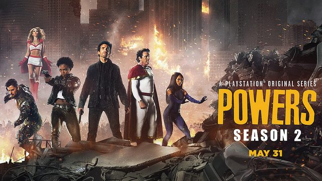 Celebrate Powers Season 2 with Free Comic, PlayStation Theme