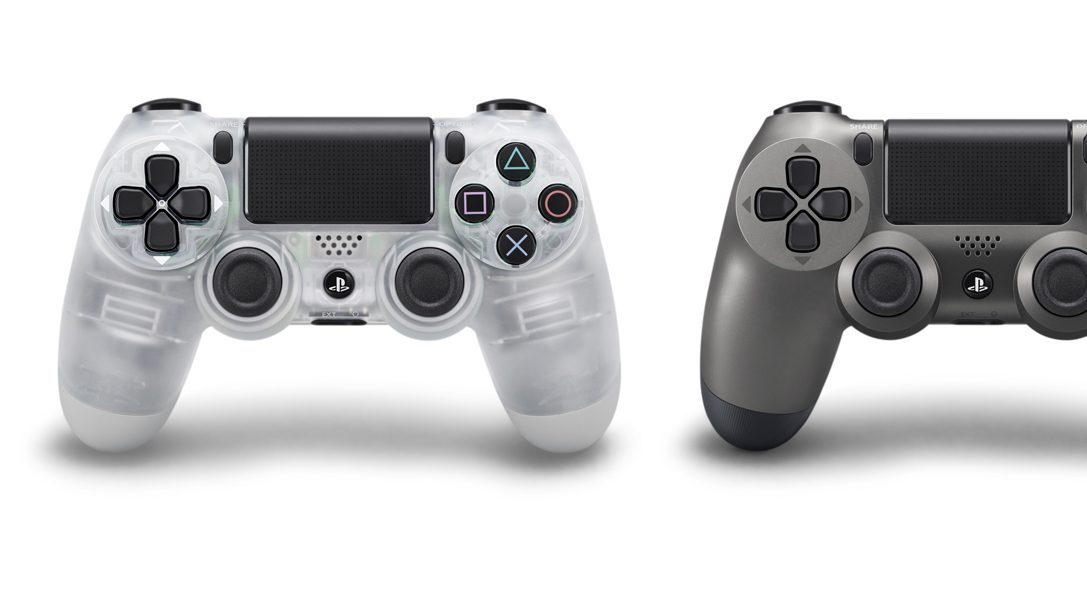 Crystal and Steel Black Dualshock 4 wireless controllers launch in July