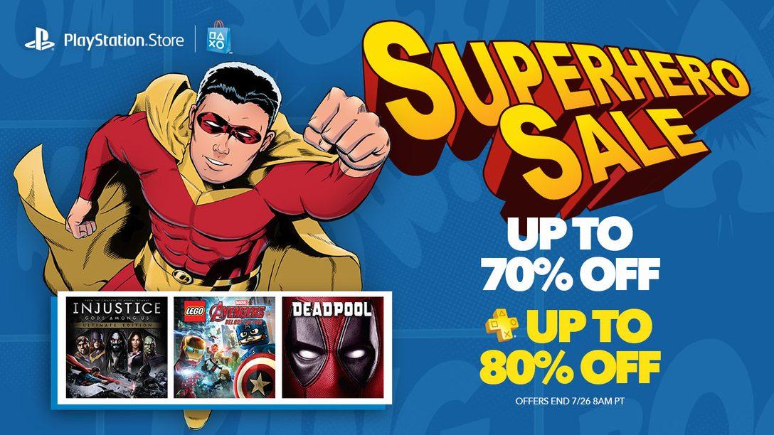 Superhero Sale: Savings Up to 70%, 80% for Plus