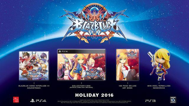 BlazBlue: Central Fiction Limited Edition Announced, DLC Details