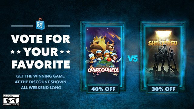 Vote for your Favorite: Overcooked vs. Sheltered