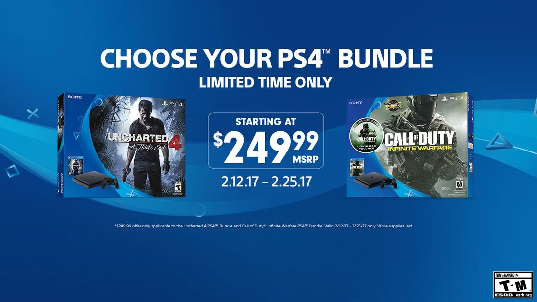 Pick Up Select PS4 Bundles for $249 This Month