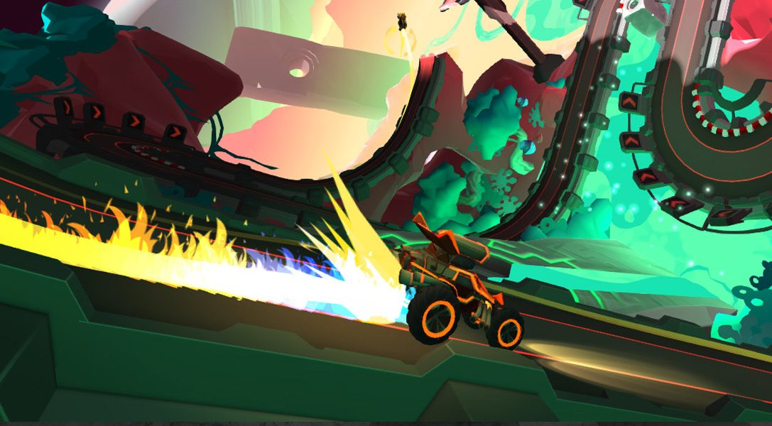 Velocity 2X's creator returns with PS VR slot-car racer Tiny Trax