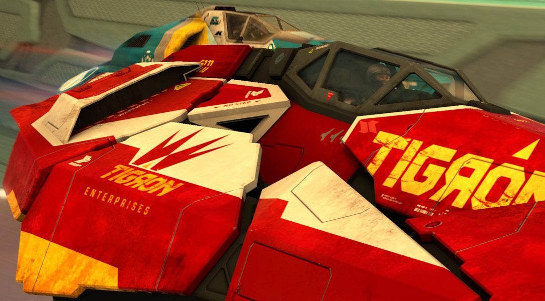 Here's your first look at WipEout Omega Collection's new ship: the Tigron K-VSR