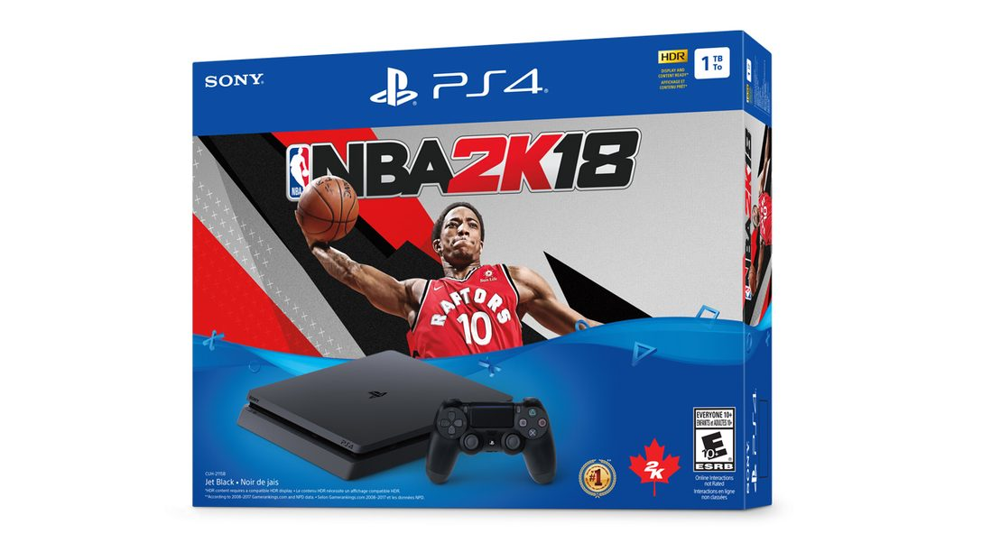 NBA 2K18 PS4 Bundle Comes to Canada September 15