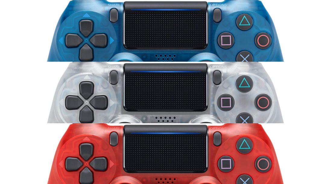 Translucent DualShock 4 Colors Hit Store Shelves This Month