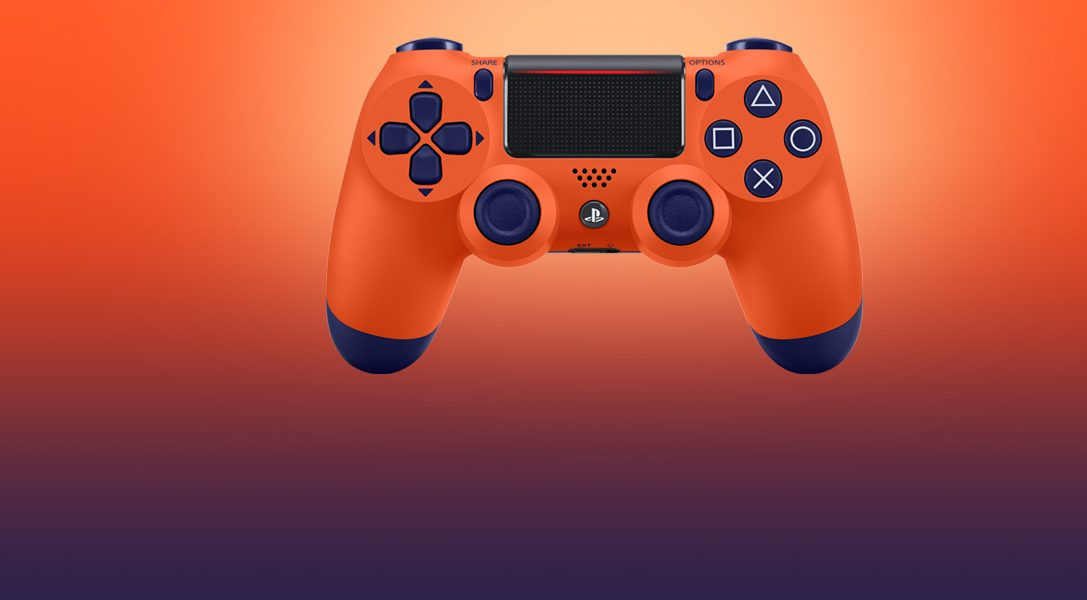 Introducing the Sunset Orange Dualshock 4 wireless controller, out 14th November
